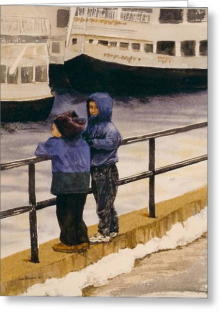 Boys N Boats Greeting Card