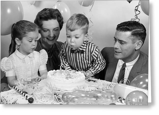 Boys Second Birthday Party, C.1950s Greeting Card