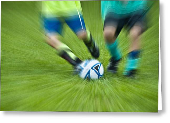 Boys Soccer Greeting Card by John Greim