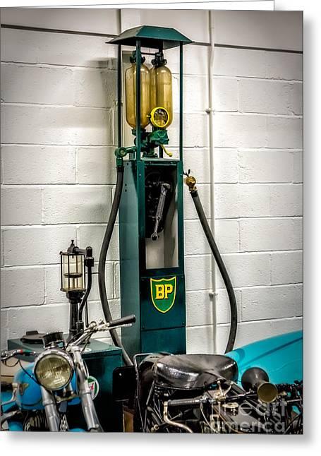 Bp Gas Pump Greeting Card