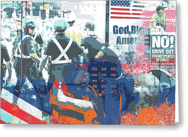 Boston Police Busted Greeting Card by Shay Culligan