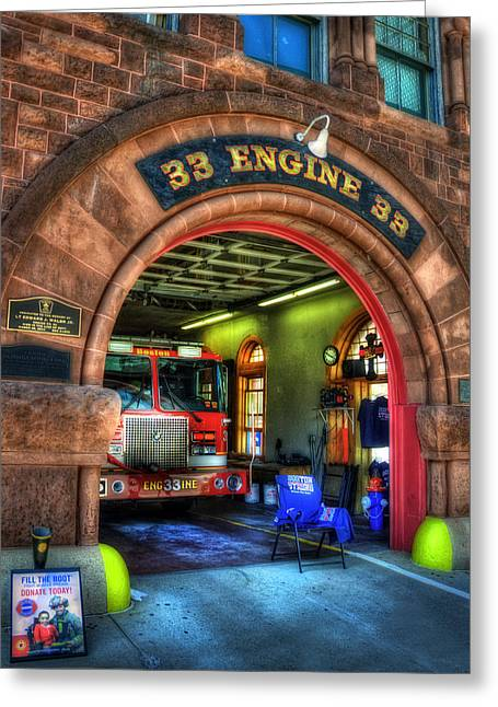 Boston Fire Dept - Engine 33 Ladder 15 Greeting Card by Joann Vitali