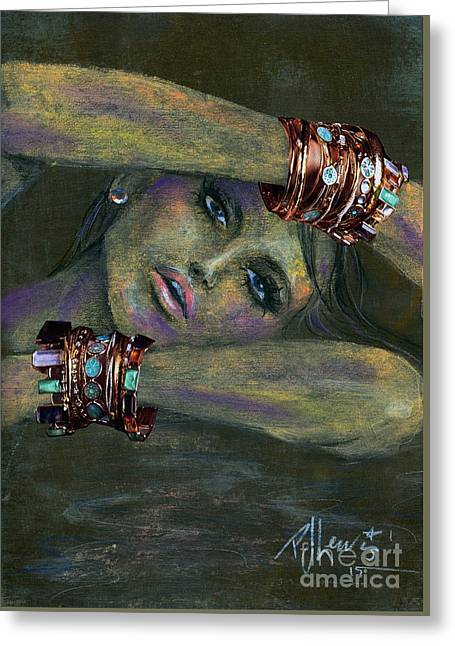 Bracelets  Greeting Card by P J Lewis