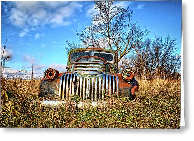 Braces Of Chrome 2 Greeting Card by Bonfire Photography