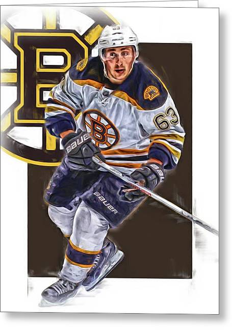Brad Marchand Boston Bruins Oil Art Greeting Card