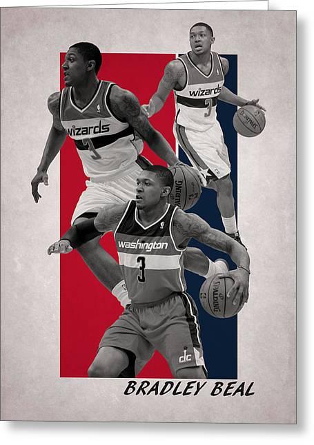 Bradley Beal Washington Wizards Greeting Card by Joe Hamilton