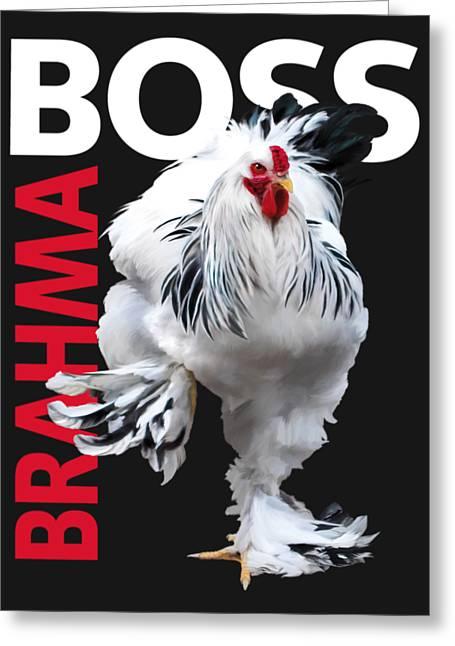 Brahma Boss II T-shirt Print Greeting Card