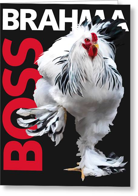 Brahma Boss T-shirt Print Greeting Card