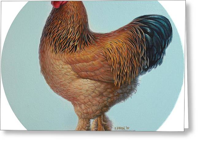 Brahma Rooster Greeting Card
