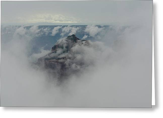 Brahma Temple In A Sea Of Clouds Greeting Card
