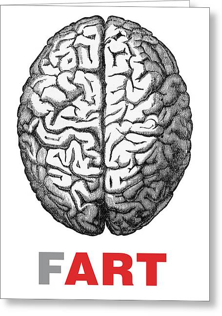 Brain Fart Greeting Card by Craig McCausland