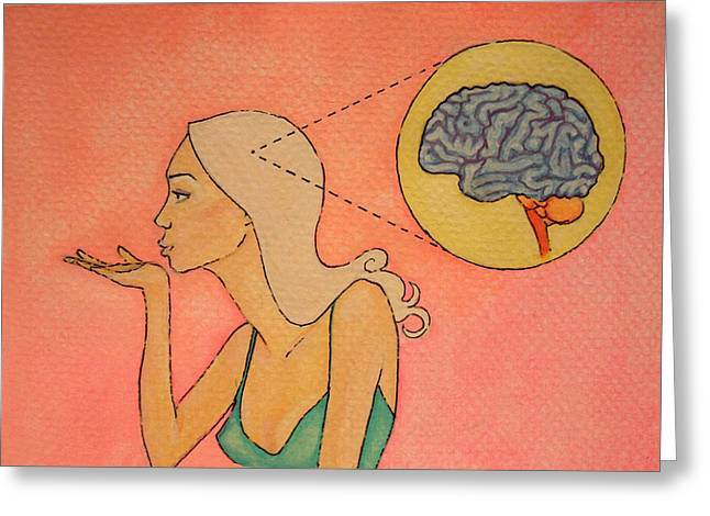 Brains And Beauty Greeting Card by Ramey Guerra