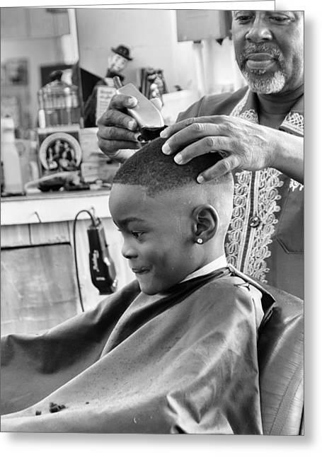 Brian's Haircut Greeting Card