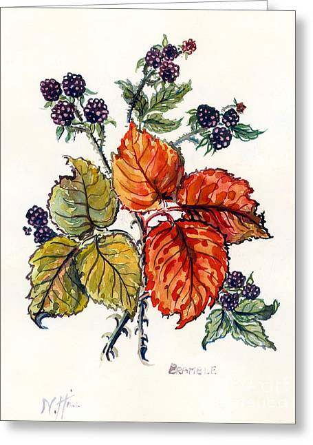 Bramble Greeting Card by Nell Hill