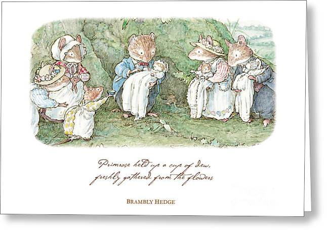 Brambly Hedge Naming Ceremony Greeting Card
