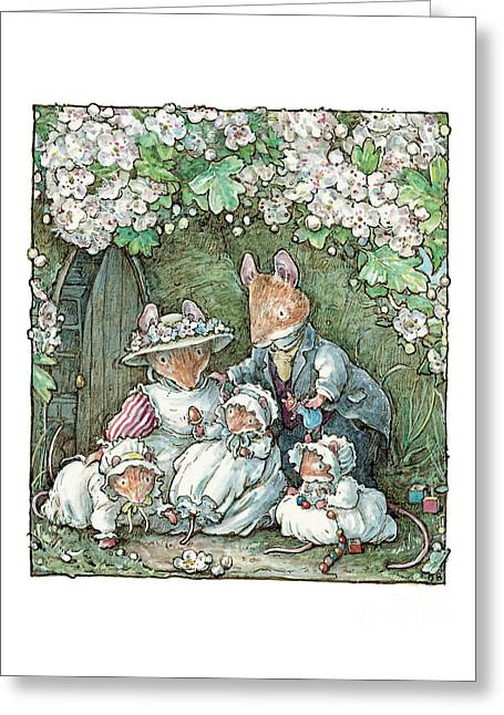 Brambly Hedge - Poppy Dusty And Babies Greeting Card