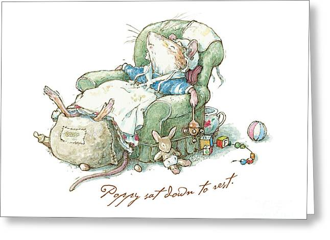 Brambly Hedge - Poppy Sat Down To Rest Greeting Card