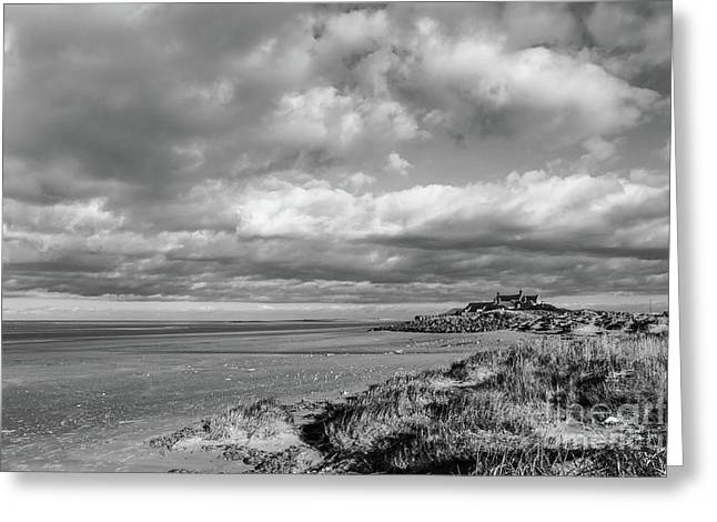 Brancaster Beach Monochrome Greeting Card by John Edwards