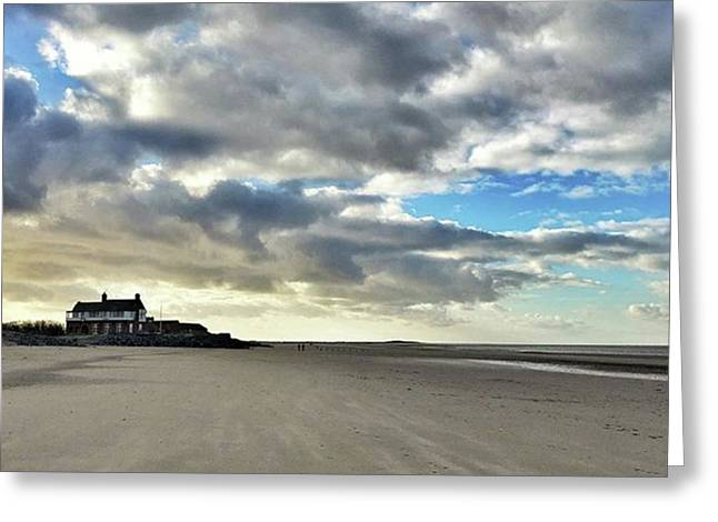 Brancaster Beach This Afternoon 9 Feb Greeting Card by John Edwards