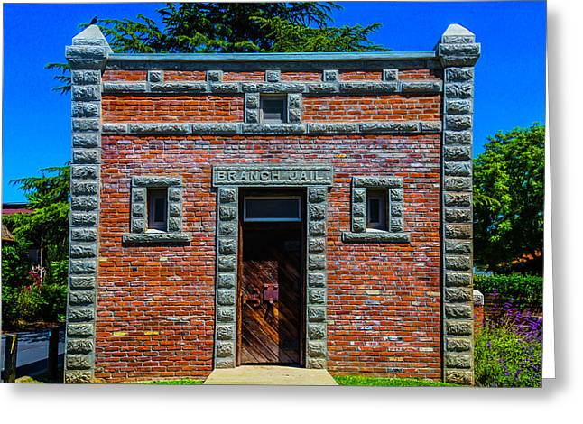 Branch Jail Jamestown Greeting Card by Garry Gay