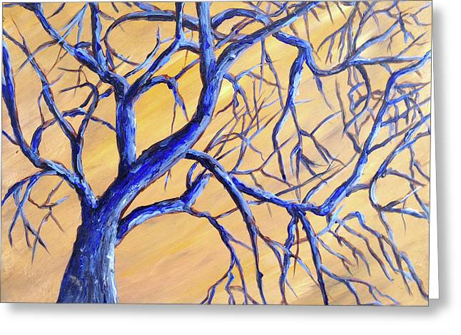 Branches Of Blue Greeting Card