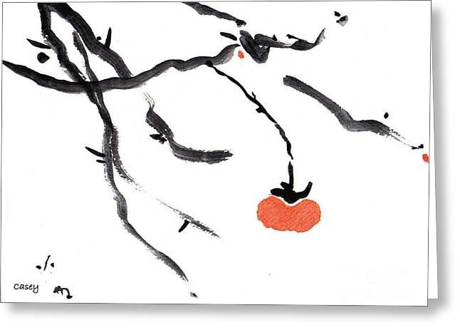Branches With A Persimmon Greeting Card