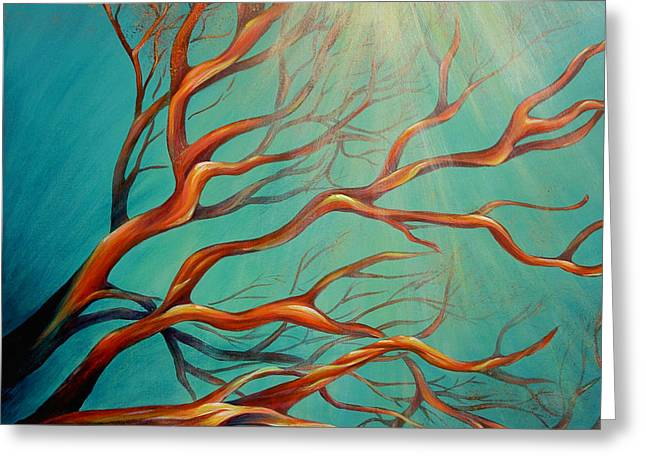 Greeting Card featuring the painting Branching Out by Dina Dargo