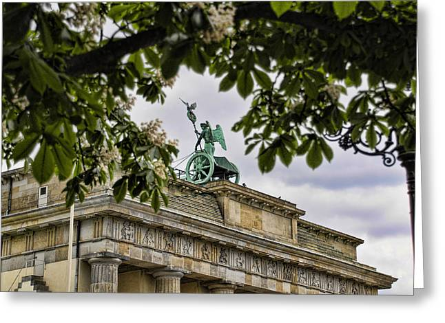 Brandenberg Gate Greeting Card by Jon Berghoff