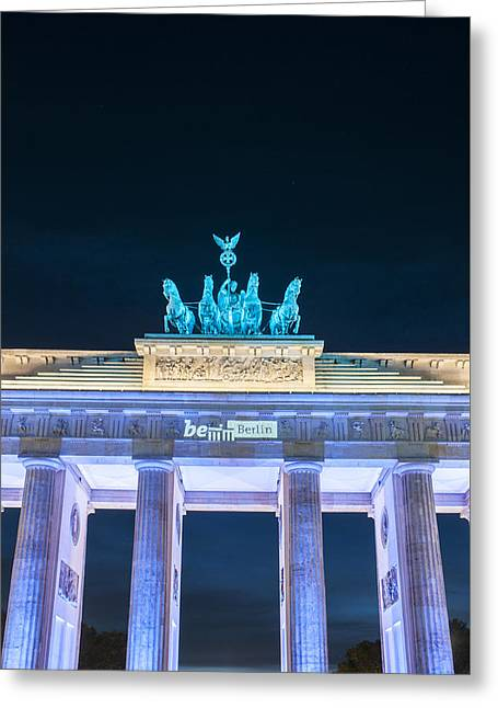 Brandenburg Blue Greeting Card by Nathan Wright