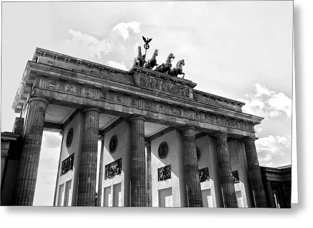 Tor Photographs Greeting Cards - Brandenburg Gate - Berlin Greeting Card by Juergen Weiss