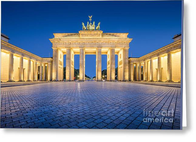 Brandenburg Gate Greeting Card by JR Photography