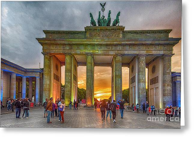 Brandenburg Gate Greeting Card by Pravine Chester
