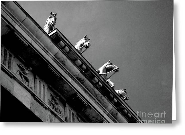 Brandenburger Tor Greeting Card by Adriana Zoon