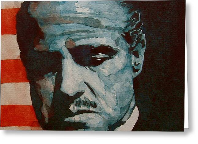 Brando Greeting Card by Paul Lovering