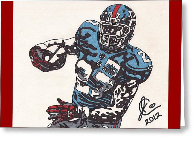 Brandon Jacobs 1 Greeting Card by Jeremiah Colley