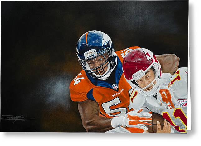 Brandon Marshall Greeting Card by Don Medina