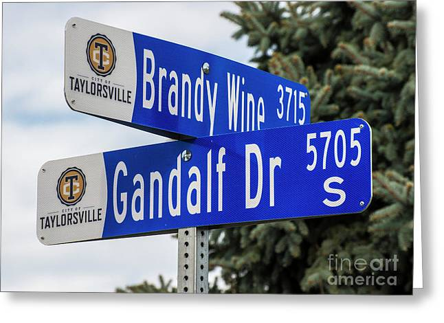 Brandywine And Gandalf Street Signs Greeting Card by Gary Whitton