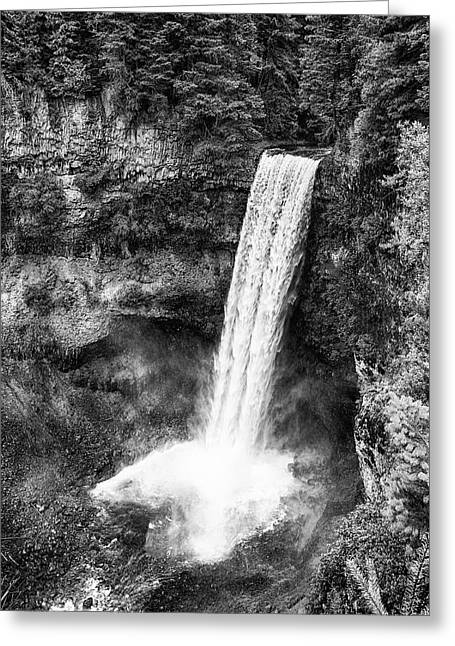 Brandywine Falls - Bw Greeting Card