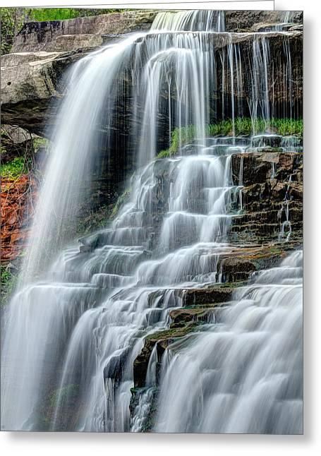 Brandywine Falls Cascade Greeting Card by Matt Hammerstein