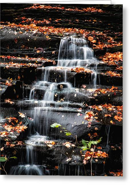 Brandywine Falls In Autumn Greeting Card by Tom Mc Nemar