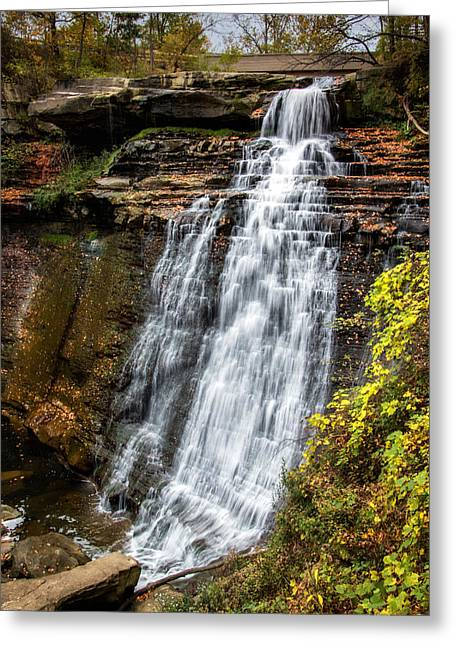 Brandywine Falls Greeting Card by Tom Mc Nemar