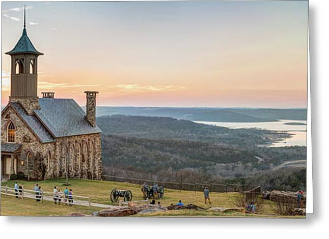 Branson Missouri Top Of The Rock Sunset Panorama Greeting Card