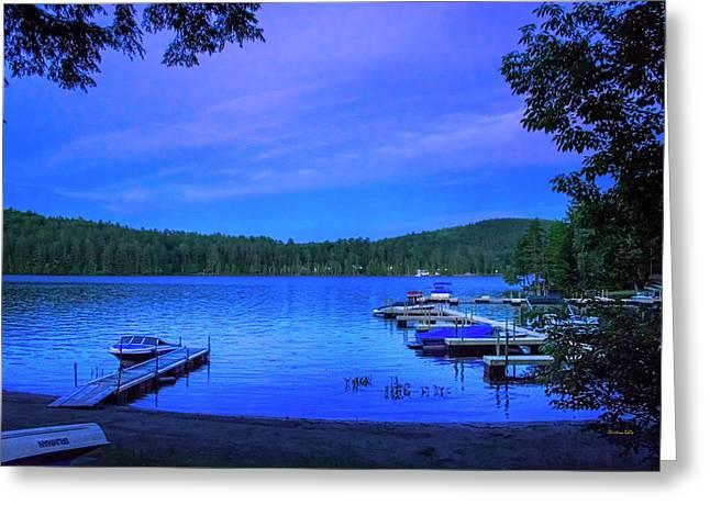 Brant Lake Ny Blue Hour  Greeting Card