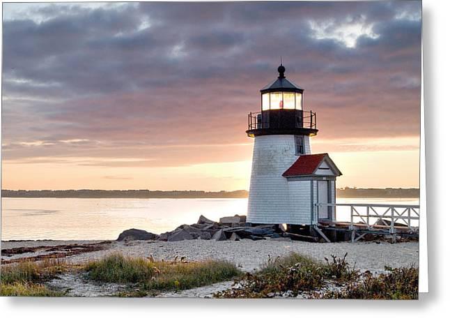 Brant Point Light Nantucket Massachusetts Greeting Card by Henry Krauzyk