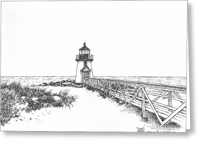 Brant Point Lighthouse Greeting Card