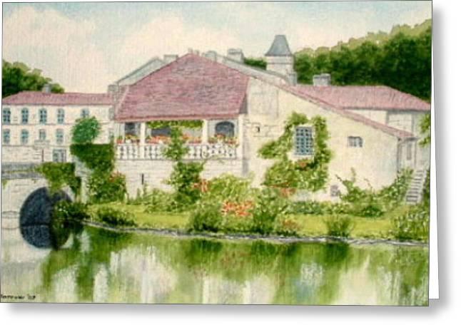 Brantome Reflections, Dordogne, France Greeting Card