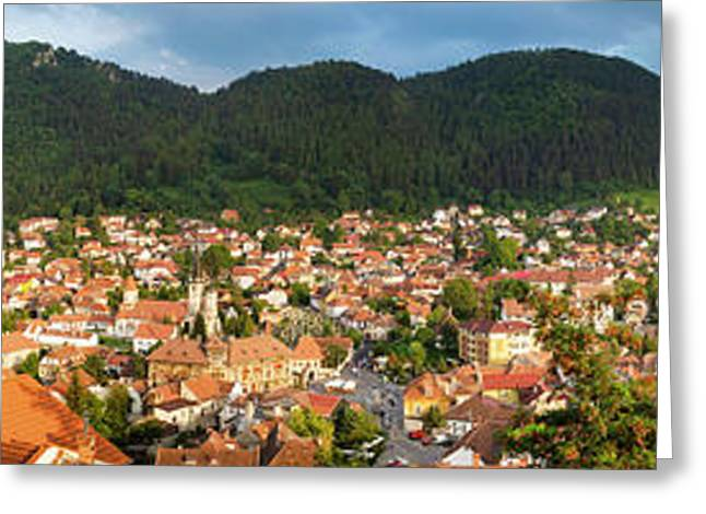 Greeting Card featuring the photograph Brasov by Fabrizio Troiani