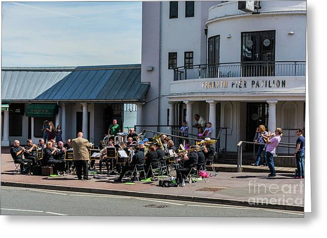 Brass Band At The Pier Greeting Card by Steve Purnell