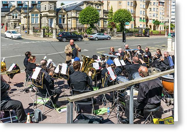 Brass Band Panorama Greeting Card by Steve Purnell