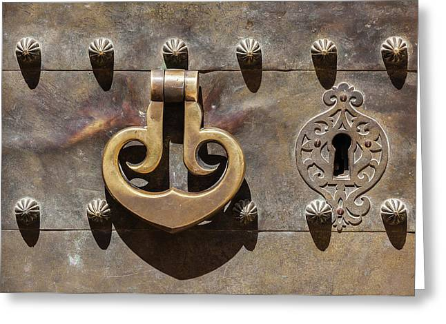 Brass Castle Knocker Greeting Card
